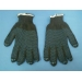 перчатки 4х нитка черные ПВХ