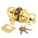 замок Аверс 6072-01-G золото с кл.