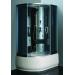 """Душевая кабинка 8706 Aquapulse 120*80*215L (черное стекло, черные задние стенки,вытяжка,радио,подстветка,пульт управления,гидромассаж спины,поясничный массаж,гидромассаж стоп,дозаторы для мыла, слив-перелив,декоративная подсветка """"лунный свет"""")"""